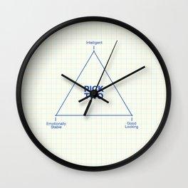 Pick Two Wall Clock