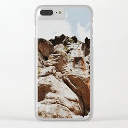Rock Face Clear iPhone Case