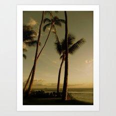 Barcos de Maui Art Print