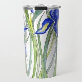 Blue Iris, Illustration Travel Mug