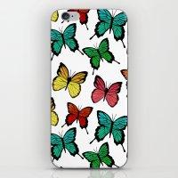 butterflies iPhone & iPod Skins featuring Butterflies by Julia Badeeva