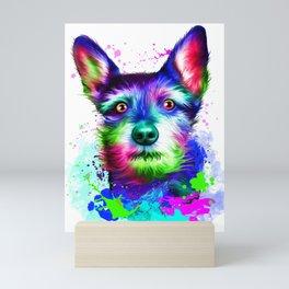 Terrier digital art Mini Art Print