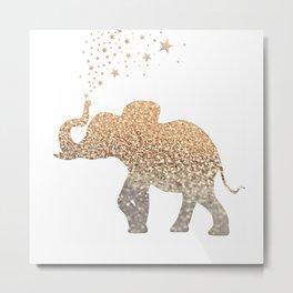 GOLD ELEPHANT Metal Print