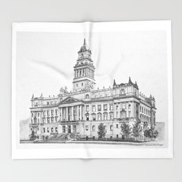Wayne County Court House | Detroit Michigan Throw Blanket