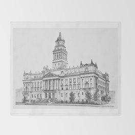 Wayne County Court House | Detroit Michigan Throw Blanket