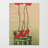 shoes Canvas Prints featuring shoes by Ezgi Kaya