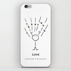 LOVE by ISHISHA PROJECT iPhone & iPod Skin