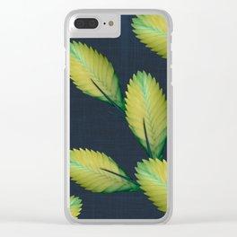 Tillandsia in dark blue Clear iPhone Case