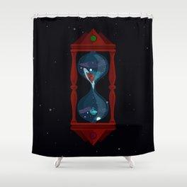 Cosmic Hourglass Shower Curtain