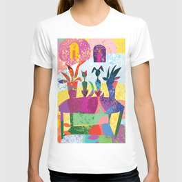 Cat and Dog Abstract Still Life T-shirt