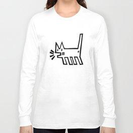 Meowing Cat Long Sleeve T-shirt