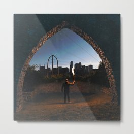 Minneapolis Minnesota Skyline Portal Metal Print
