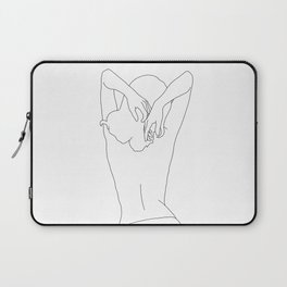 Woman's body line drawing - Cece Laptop Sleeve