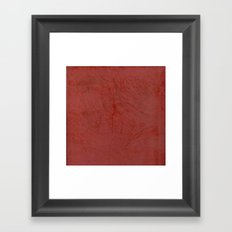 Tuscan Red Stucco - Rustic Glam Framed Art Print