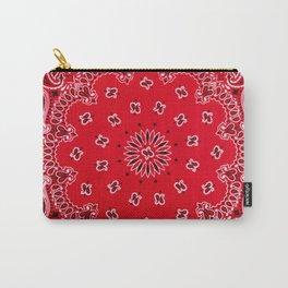 Paisley - Bandana Art - Red - Southwestern Carry-All Pouch