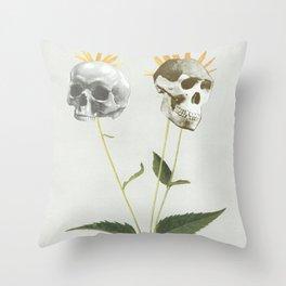 Skullflower Throw Pillow