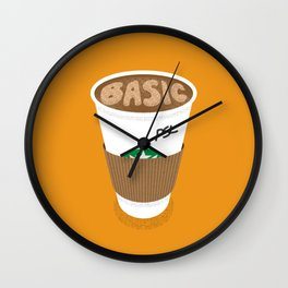 Basic White Girl Pumpkin Spice Latte Wall Clock