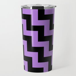 Black and Lavender Violet Steps LTR Travel Mug