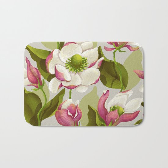 magnolia bloom - daytime version Bath Mat