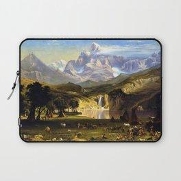 The Rocky Mountains, Lander's Peak by Albert Bierstadt Laptop Sleeve