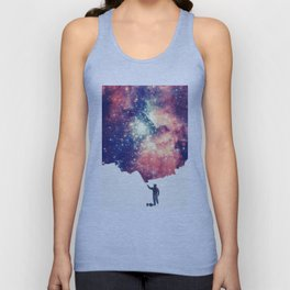 Painting the universe (Colorful Negative Space Art) Unisex Tank Top