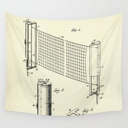 Combined case and post for lawn-tennis nets-1908 Wall Tapestry