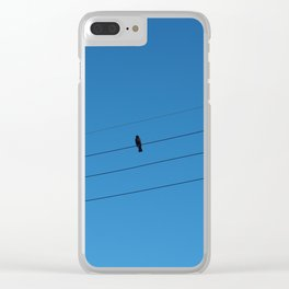 Bird on a wire Clear iPhone Case