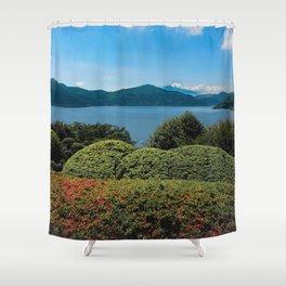Ashinoko to Fujisan Shower Curtain