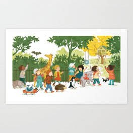 We will play here! Art Print