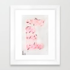 Enjoy Life Eat Cake Framed Art Print