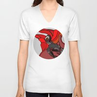 medieval V-neck T-shirts featuring Medieval Spawn by Robert Cooper
