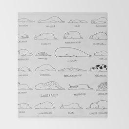 Moody Animals Pattern Throw Blanket