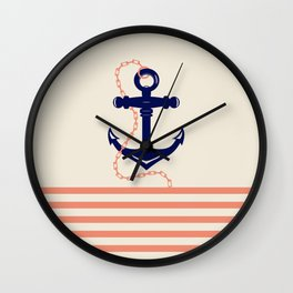 AFE Navy Anchor and Chain Wall Clock