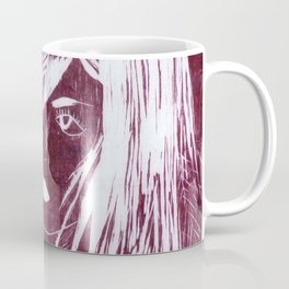 Crow Girl - Burgundy Coffee Mug