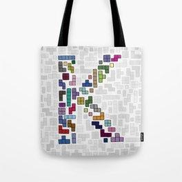 letter k - gaming blocks Tote Bag
