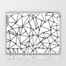 Abstract Heart Black on White Laptop & iPad Skin