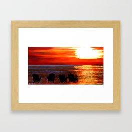 Hernando Beach Framed Art Print