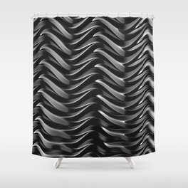 GRIEVE shades of dark grey weave together to gain strength Shower Curtain