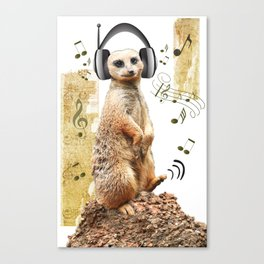 Jammin' Meerkat Canvas Print