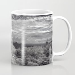 The Sonoran Desert in Black and White Coffee Mug