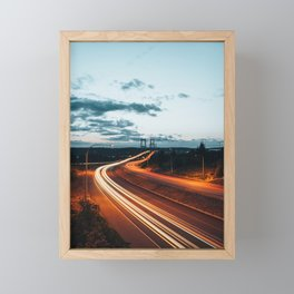 Highway Lights Framed Mini Art Print