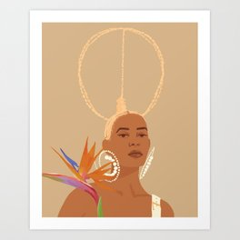 Don't Ever Touch My Hair Art Print