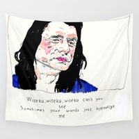 notorious Wall Tapestries featuring Notorious W.I.S.E.A.U by withapencilinhand