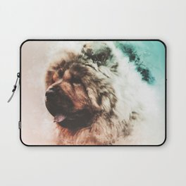Chow Chow Digital Watercolor Painting Laptop Sleeve
