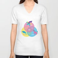 sparkles V-neck T-shirts featuring Magic Sparkles & Love by nicole martinez