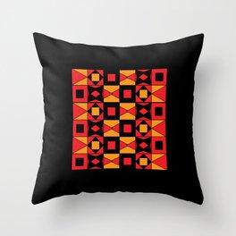 African Motif Mosaic Game Throw Pillow