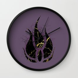 Cracks of Gold Wall Clock