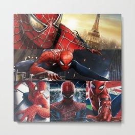 Spider Man Mix Metal Print