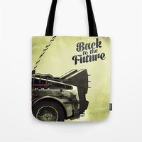 back to the future Tote Bags featuring Back to the future by Duke.Doks