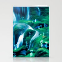 kodama Stationery Cards featuring Kodama by Carles Marsal